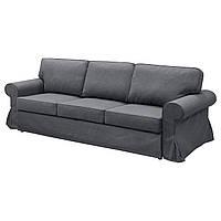 EVERTSBERG Диван-кровать 3-местный/контейнер, Nordvalla серый