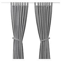 LENDA Завеса с обвязкой, 2 шт., серый