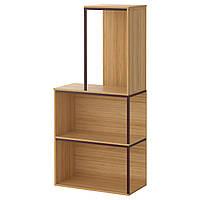 IKEA PS 2014 Комбинация regałowa, комплектация верхняя, бамбук, темно-красный