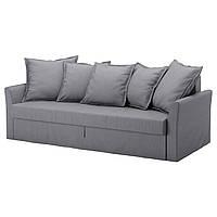 HOLMSUND Чехол на 3-местный диван-кровать, Нордвалла классический серый
