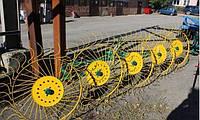 Грабли-ворошилки Agromech тракторные на круглой трубе (на 5 секции) Польша