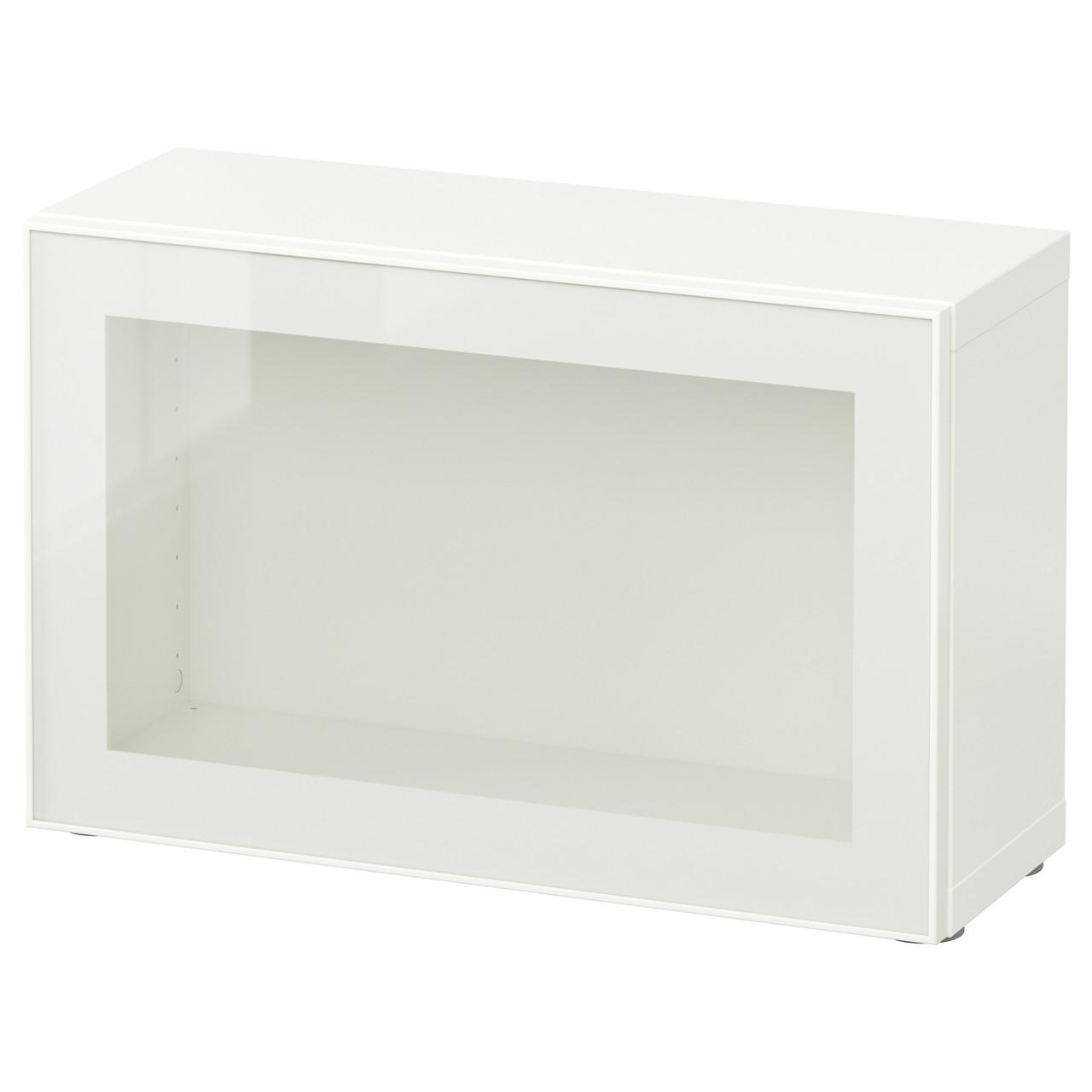 BESTÅ Сайт, белый, Glassvik белый/прозрачное стекло 290.466.39