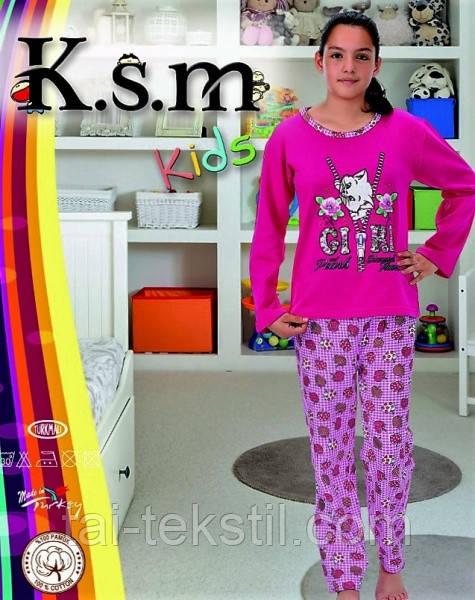 KSM пижама на девочку с начесом БАЙКА (5-14 лет)