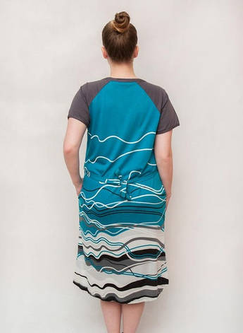 Жіночий літній халат збільшеного розміру Хвиля, фото 2