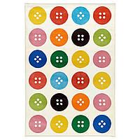 Ковер, короткий ворс TÅSTRUP, разноцветный, IKEA, 702.517.40