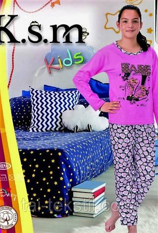 KSM пижама детская БАЙКА девочка 004 (5-14 лет), фото 2