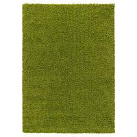 HAMPEN Ковер, длинный ворс, ярко-зеленый
