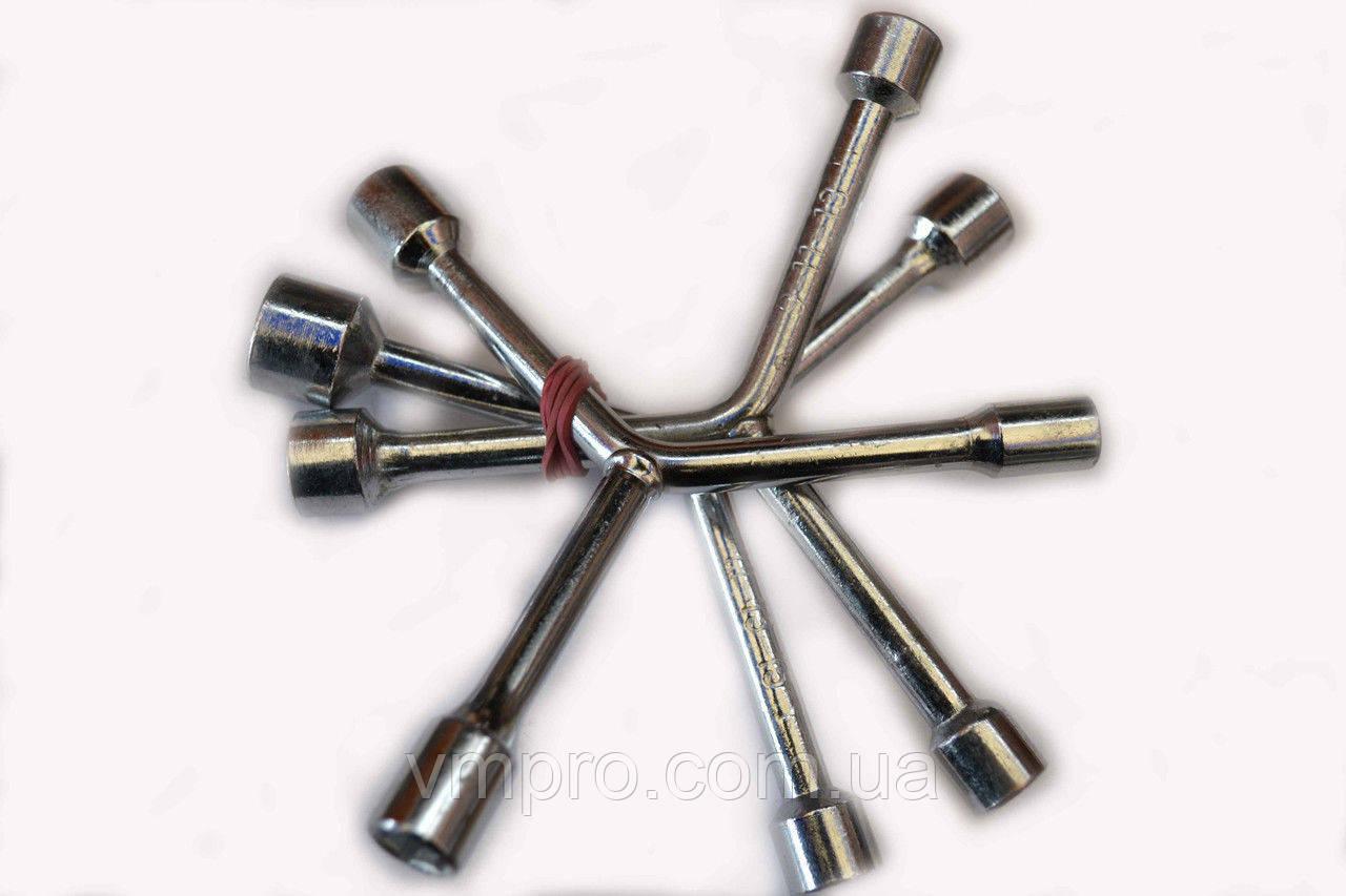 Ключ тройник (трехсторонний) Cr-V, 8 мм-10 мм-12 мм