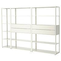 FJÄLKINGE Книжный шкаф с ящиками, белый
