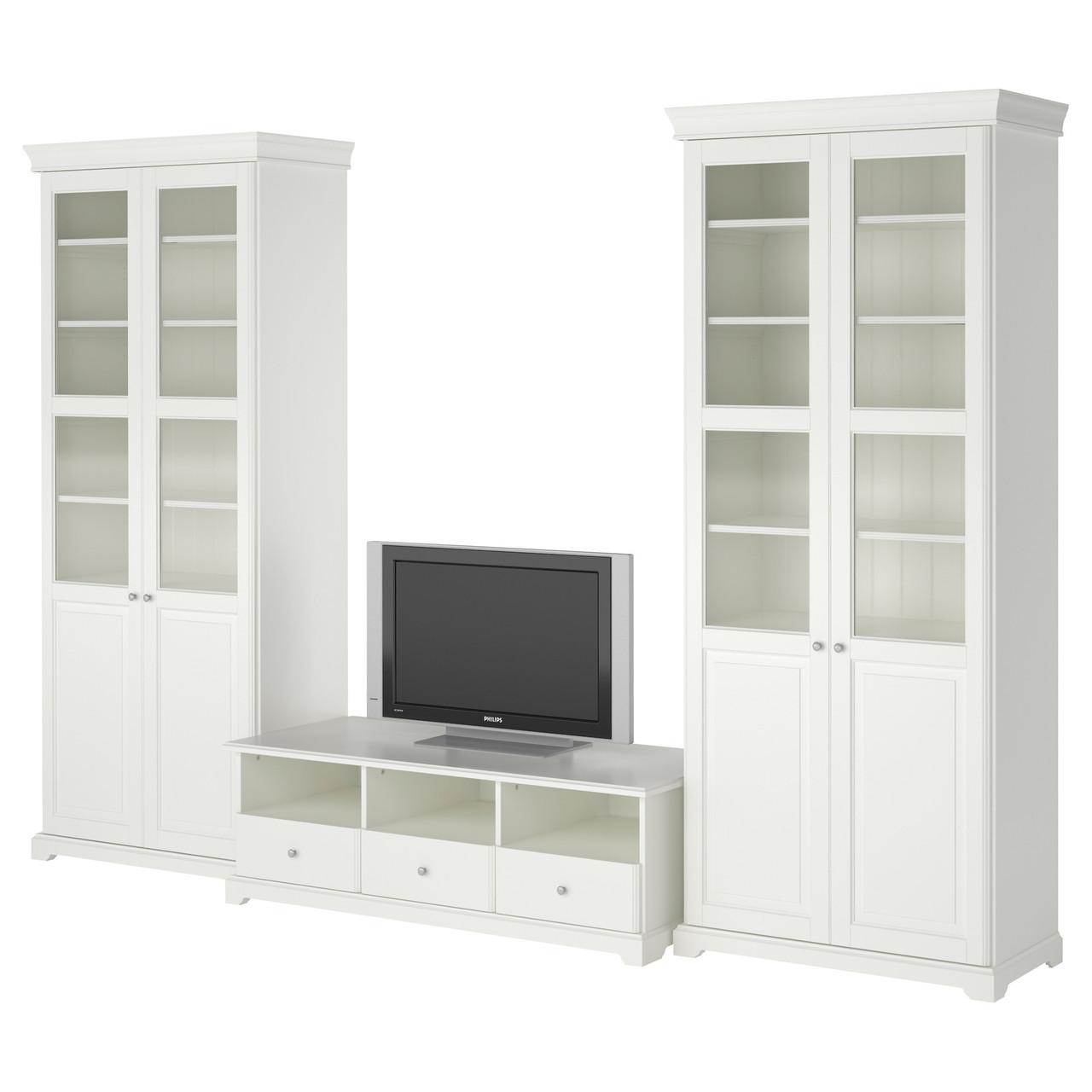 LIATORP Шкаф для ТВ, комбинация, белый 290.460.45