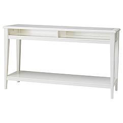 LIATORP Ława, biały, szkło 001.050.64