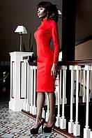 Красное женское платье с перфорацией Магик  Jadone  42-50 размеры