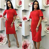 "Элегантное платье ""Рафаэло"" (3 цвета) батал"