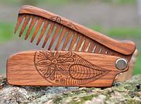 Женский раскладной гребень для волос с узором