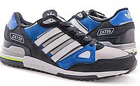 Серо-синие зимние кроссовки Adidas ZX 750 (С МЕХОМ) - 02Z