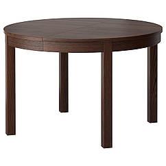 BJURSTA Раздвижной стол, коричневый