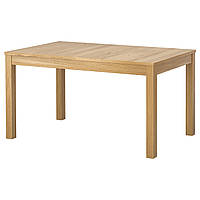BJURSTA Раздвижной стол, дубовый шпон