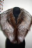 """Меховой воротник  из  чернобурки, цвет - """"старое золото"""" silver fox fur cape fur collar shawl , фото 5"""