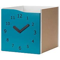 KALLAX Вклад с дверью, бирюзовый, часы