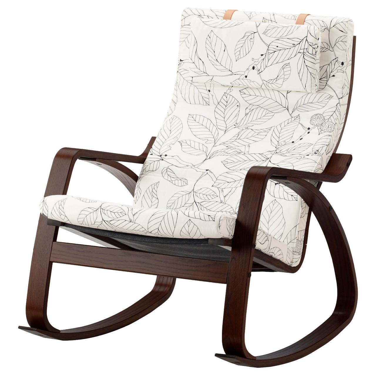 кресло качалка Ikea Poäng коричневый висланда черный белый 391 812 69 купить по лучшей цене в киеве от компании Dom Ikea интернет магазин мебели
