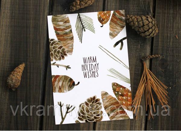 Листівка «Warm holiday wishes»