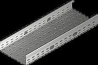 Лоток оцинк. металлический перфорированный 100*100*0,7*3000мм