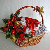 """Новогодняя подарочная корзина """"Для самых послушных"""""""