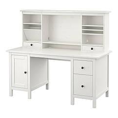 HEMNES Рабочий стол с возможностью дополнительной кровати, белая морилка 290.005.04