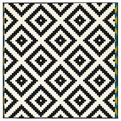 LAPPLJUNG RUTA Ковер, короткий ворс, белый, черный 402.279.02