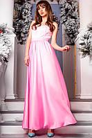 Платье вечернее.длинное , ткань котон-сатин и гипюр-,3 расцветки ,фото реал аф №0516