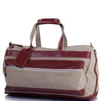Сумка дорожная текстильная с кожаными вставками VALENTA (ВАЛЕНТА) VBM70632710