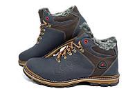 Мужские зимние кожаные ботинки Ecco Receptor blue