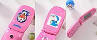 Hello Kitty F1 телефон раскладушка для девочки Nokia Doraeman 1 SIM