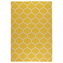 STOCKHOLM Ковер, безворсовый, сетчатый орнамент ручная работа, сетчатый орнамент желтый желтый 102.290.35
