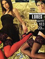 Чулки с сексуальным широким кружевом LORES model 183   20 den