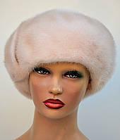 """Женская шапка норковая """"Берет-бант"""", фото 1"""