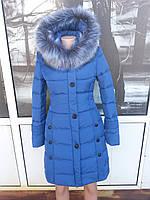 Зимняя женская молодежная  куртка с приталенным силуэтом