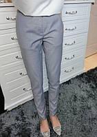 Стильные женские серые классические укороченные брюки