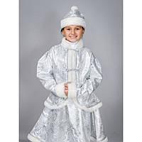 """Карнавальный костюм """"Снегурочка хрусталь"""" парча, 3 цвета, размер 30,32,34"""