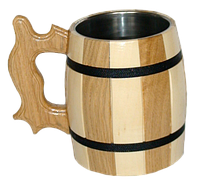 Бокал деревянный комбинированный, фото 1