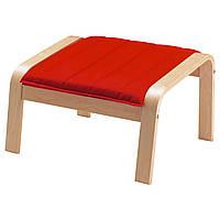 POÄNG Подушка-сиденье на табурет для ног, Ранста красный