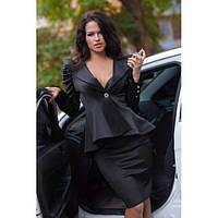 Костюм деловой женский  из пиджака и юбки с молнией по всей длине сзади