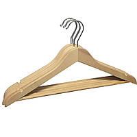 Вешалки плечики деревянные с перекладиной без лакового покрытия