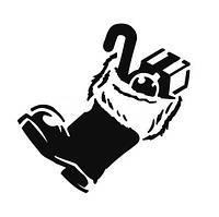 """Трафарет для торта """"Новогодний сапожек"""" Martellato (MASK191)"""