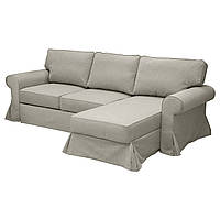 EVERTSBERG Угловой диван с контейнером, Nordvalla темно-бежевый