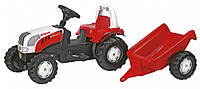 Педальный трактор Rolly Toys Kid Steyr CVT красный