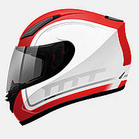 Мотошлем MT-Helmets REVENGE BINOMY GLOSS WHITE/RED/GREEN size XXL