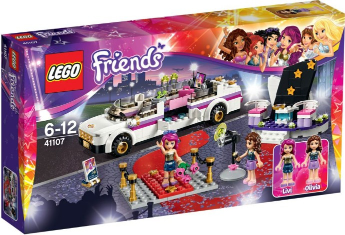 LEGO 41107 Friends Лімузин поп-зірки (Лего Френдс Лимузин поп-звезды, LEGO Friends Pop Star Limo)