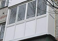 Балкон от пола до потолка (французское остекл-е), 3 м, h=2.5 м. WDS 5-камерный