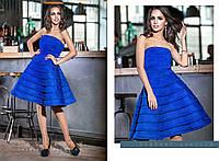 """Женское коктейльное платье """"Парадиз"""" с открытыми плечами в разных цветах"""